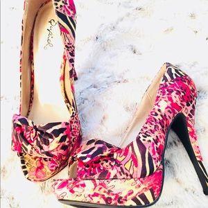 455ec815b3a7 Qupid Shoes - Qupid pink multi color heels